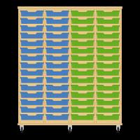 Storix Eigendomskast beuken 4 kol. 15 laden blauw-blauw-groen-groen