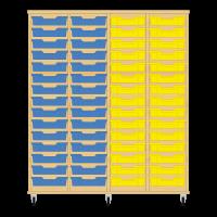 Storix Eigendomskast beuken 4 kol. 15 laden blauw-blauw-geel-geel