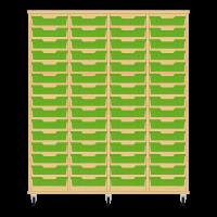 Storix Eigendomskast beuken 4 kol. 15 laden groen
