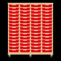 Storix Eigendomskast beuken 4 kol. 15 laden rood