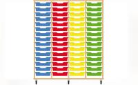 Storix Eigendomskast beuken 4 kol. 15 laden rood-rood-geel-geel