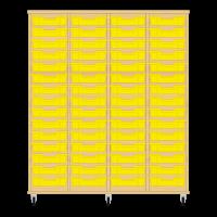 Storix Eigendomskast beuken 4 kol. 15 laden geel