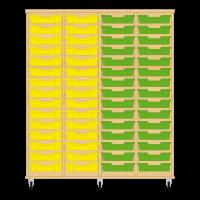 Storix Eigendomskast beuken 4 kol. 15 laden geel-geel-groen-groen