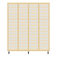 Storix Eigendomskast beuken 4 kol. 15 laden transparant