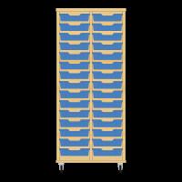 Storix Eigendomskast beuken 2 kol. 15 laden blauw