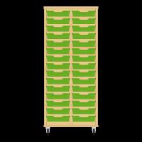 Storix Eigendomskast beuken 2 kol. 15 laden groen