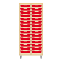 Storix Eigendomskast beuken 2 kol. 15 laden rood