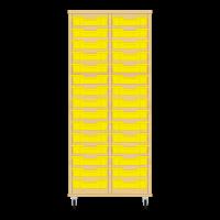 Storix Eigendomskast beuken 2 kol. 15 laden geel