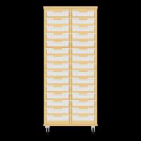 Storix Eigendomskast beuken 2 kol. 15 laden transparant