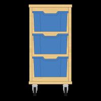 Storix Materiaalkast 12 beuken, B370xH684xD465 - laden blauw