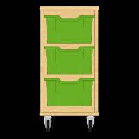 Storix Materiaalkast 12 beuken, B370xH684xD465 - laden groen