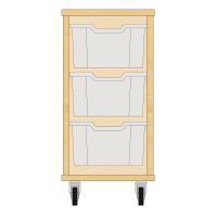 Storix Materiaalkast 12 beuken. B370xH684xD465 - laden transparant