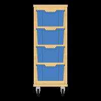 Storix Materiaalkast 12 beuken, B370xH856xD465 - laden blauw