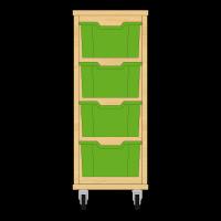 Storix Materiaalkast 12 beuken, B370xH856xD465 - laden groen