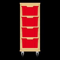 Storix Materiaalkast 12 beuken, B370xH856xD465 - laden rood