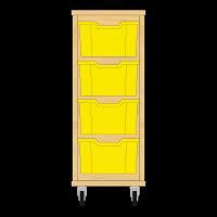 Storix Materiaalkast 12 beuken, B370xH856xD465 - laden geel
