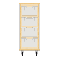 Storix Materiaalkast 12 beuken. B370xH856xD465 - laden transparant