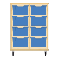 Storix Materiaalkast 12 beuken, B710xH856xD465 - laden blauw