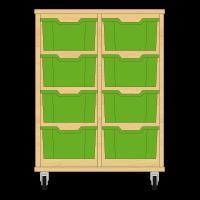 Storix Materiaalkast 12 beuken, B710xH856xD465 - laden groen