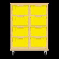 Storix Materiaalkast 12 beuken, B710xH856xD465 - laden geel