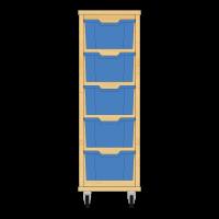 Storix Materiaalkast 12 beuken, B370xH1028xD465 - laden blauw