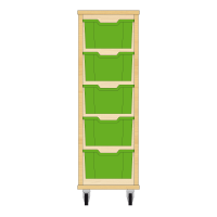 Storix Materiaalkast 12 beuken, B370xH1028xD465 - laden groen