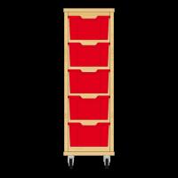 Storix Materiaalkast 12 beuken, B370xH1028xD465 - laden rood