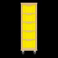 Storix Materiaalkast 12 beuken, B370xH1028xD465 - laden geel