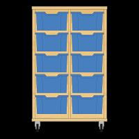 Storix Materiaalkast 12 beuken, B710xH1028xD465 - laden blauw