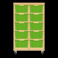 Storix Materiaalkast 12 beuken, B710xH1028xD465 - laden groen