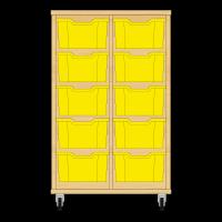 Storix Materiaalkast 12 beuken, B710xH1028xD465 - laden geel