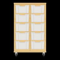 Storix Materiaalkast 12 beuken. B710xH1028xD465 - laden transparant