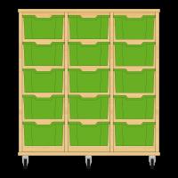 Storix Materiaalkast 12 beuken, B1050xH1028xD465 - laden groen
