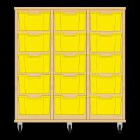 Storix Materiaalkast 12 beuken, B1050xH1028xD465 - laden geel