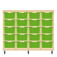 Storix Materiaalkast 12 beuken, B1390xH1028xD465 - laden groen