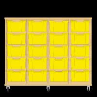 Storix Materiaalkast 12 beuken, B1390xH1028xD465 - laden geel