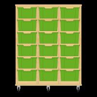 Storix Materiaalkast 12 beuken, B1050xH1200xD465 - laden groen
