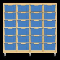 Storix Materiaalkast 12 beuken, B1390xH1200xD465 - laden blauw
