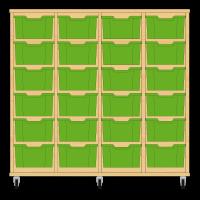 Storix Materiaalkast 12 beuken, B1390xH1200xD465 - laden groen