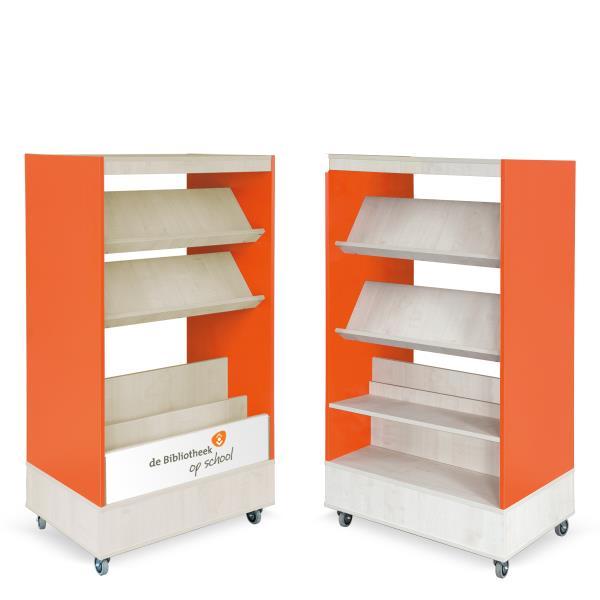 Foxis browser boekenkast hybride dubbelzijdig de bibliotheek op school - Bibliotheek wielen ...