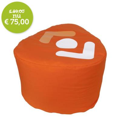 Oranje poef landelijke huisstijl 600 x 550 x 350 mm