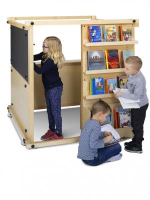 Verrijdbare boekenkast Cubik Makerspace