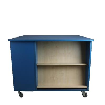 Displaytafel blauw H750 x L950 x B950 mm