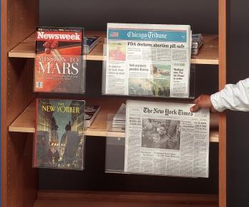 Tijdschriften- en krantenhouder v.v. kleefstrips