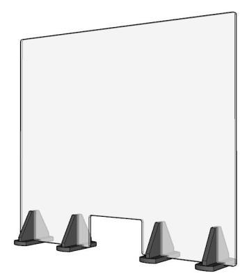 Hygiëne scherm XXL balie veiligheidsglas vanaf 10 stuks