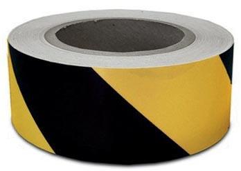 Waarschuwingstape, ft 50 mm x 66 m, zwart/geel