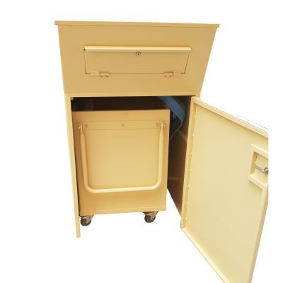Inleverbox incl binnenbak beige - B660xD820xH1130/1030 mm