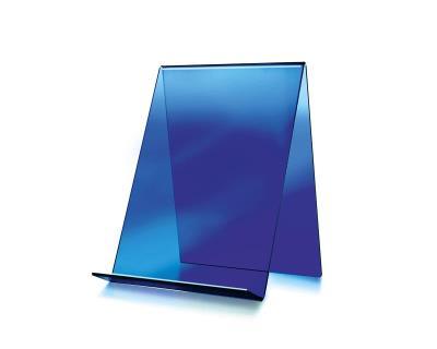 Boekenstandaard, hoog model blauw