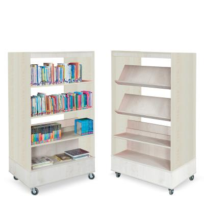Foxis boekenkast dubbelzijdig B900 x D600 x H1660 mm - ahorn