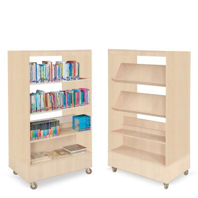 Foxis boekenkast dubbelzijdig B900 x D600 x H1660 mm - beuken